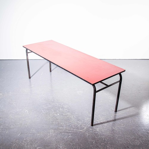 1960's French Large Industrial Work - Dining Table