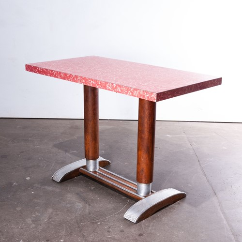 1950'sFrench Bistro Café Dining Table Laminate Top