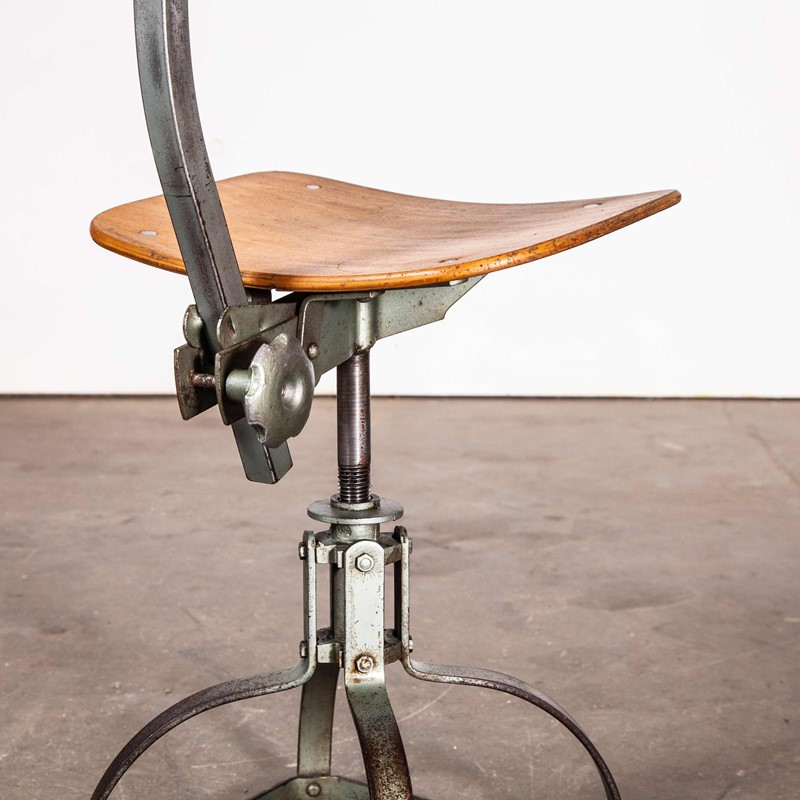 1950's French Low Desk Chair - Metal Frame-merchant-found-7004a-main-637190845879381637.jpg