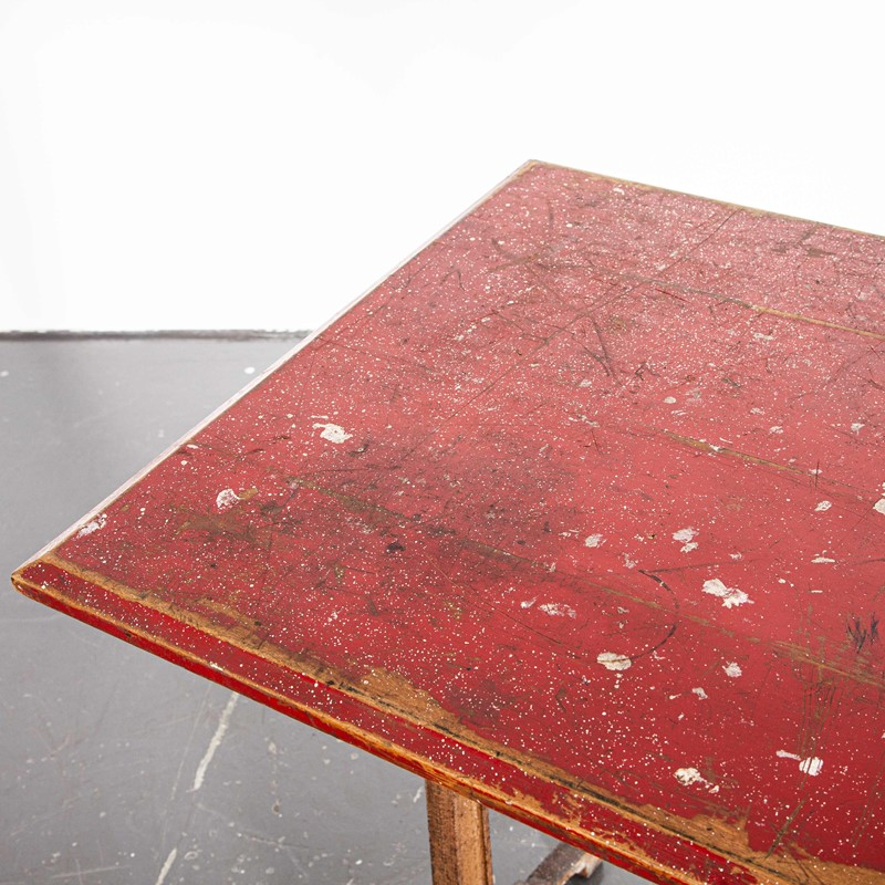 1930's French Bistro Dining Table - Red Top-merchant-found-703c-main-637247863197412104.jpg