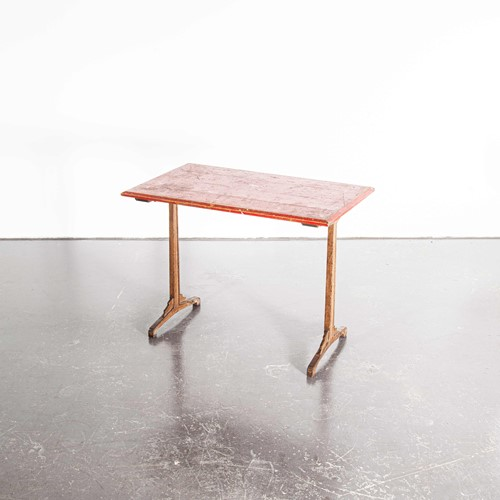 1930's French Bistro Dining Table - Red Top
