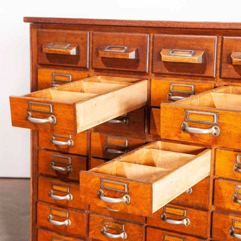 1950's Oak Chest Of Drawers - Forty Five Drawers-merchant-found-756h-main-637190877215170335.jpg