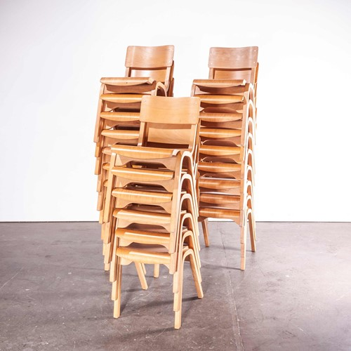 1950's Stacking Chairs Lamstak –Set Of Twenty Four