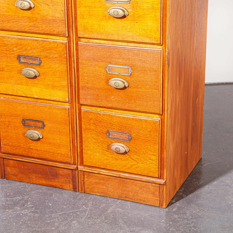 1930's Tall Oak Four Drawer Filing - Two Unit-merchant-found-7852a-main-637251308760110629.jpg