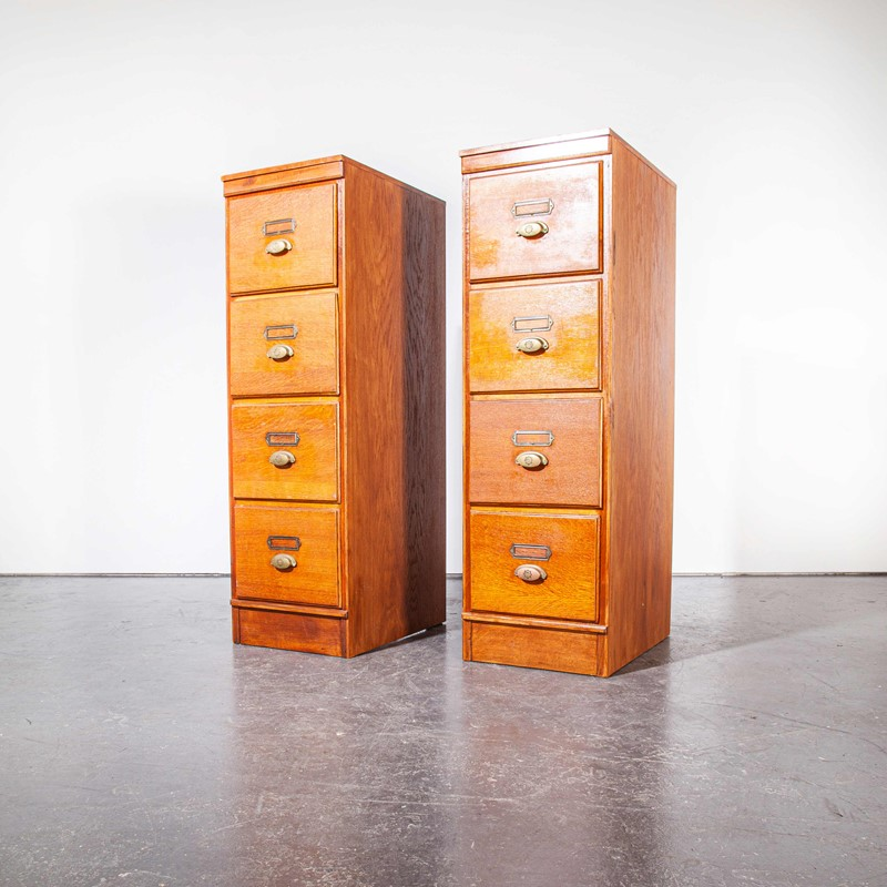 1930's Tall Oak Four Drawer Filing - Two Unit-merchant-found-7852b-main-637251308791203905.jpg