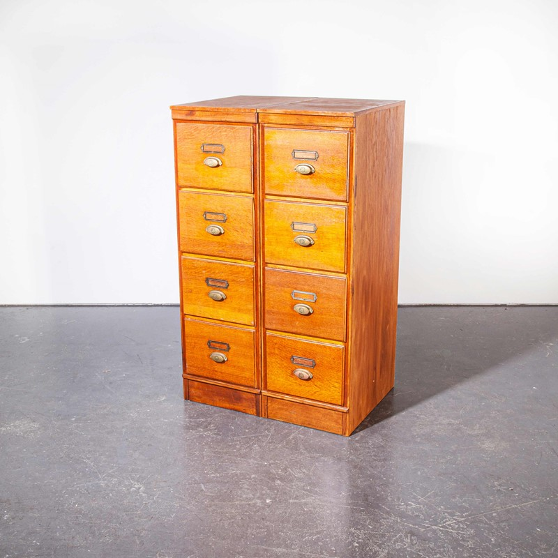 1930's Tall Oak Four Drawer Filing - Two Unit-merchant-found-7852c-main-637251308815422464.jpg