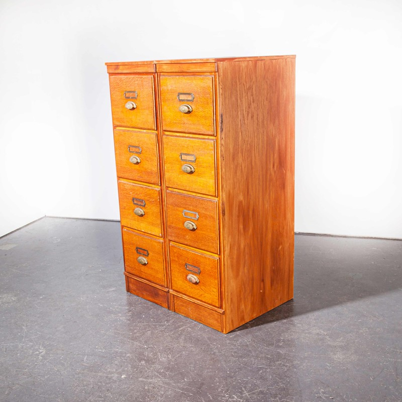 1930's Tall Oak Four Drawer Filing - Two Unit-merchant-found-7852d-main-637251308837453402.jpg