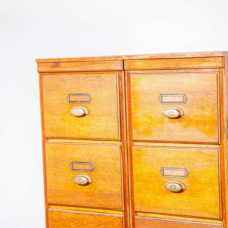 1930's Tall Oak Four Drawer Filing - Two Unit-merchant-found-7852e-main-637251308861672151.jpg