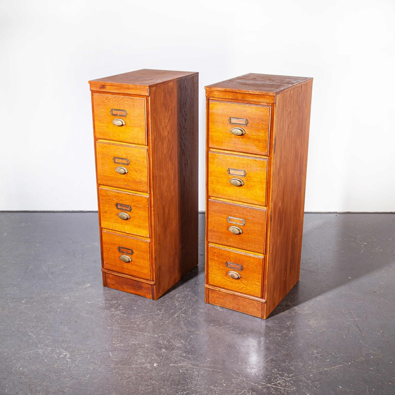 1930's Tall Oak Four Drawer Filing - Two Unit-merchant-found-7852y-main-637251308581830305.jpg