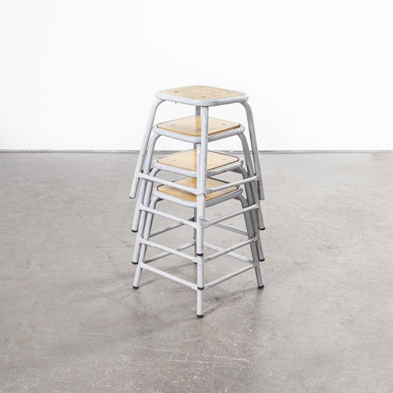 1960's Mullca Low Stool Grey - Set Of Four-merchant-found-7944c-main-637365375127415287.jpg