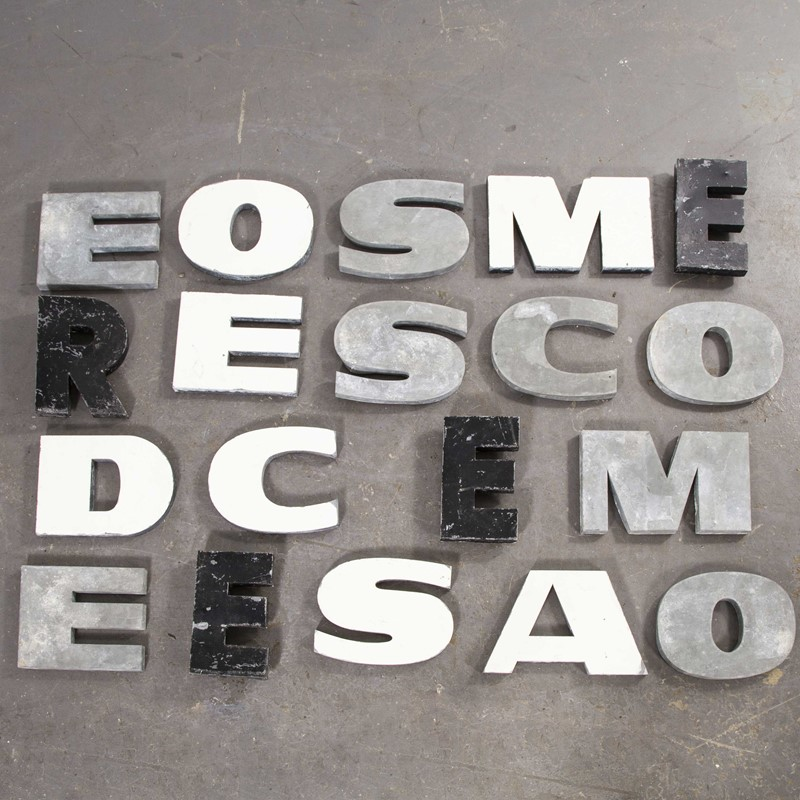 1950's French Zinc Letters - Letter White A-merchant-found-82211b-main-637419022413916133.jpg