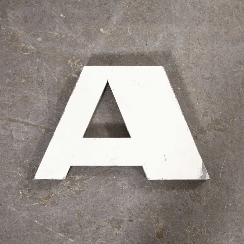 1950's French Zinc Letters - Letter White A-merchant-found-82211y-main-637419022034075413.jpg