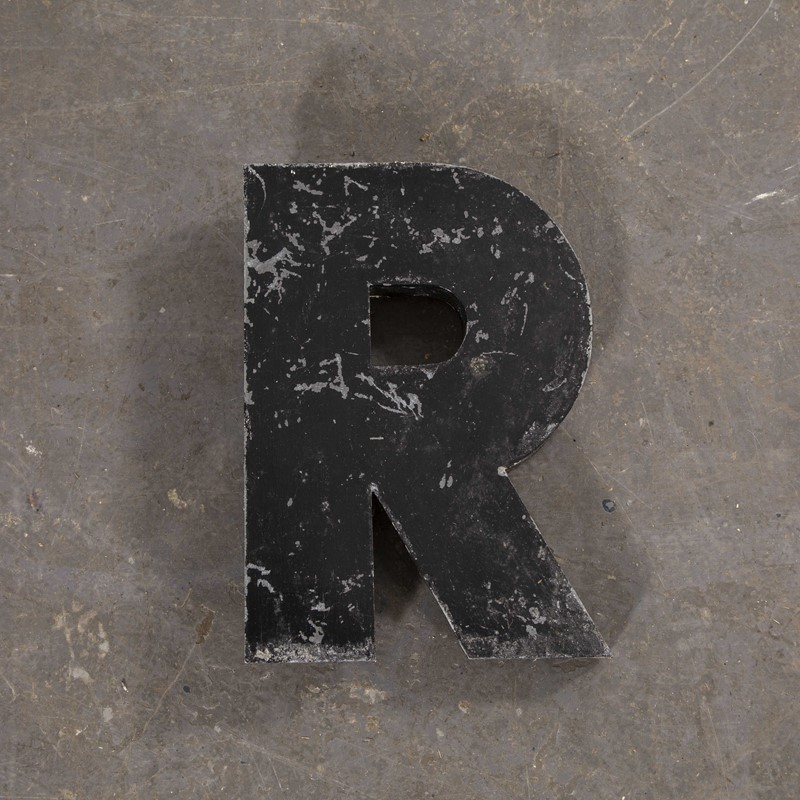 1950's French Zinc Letters - Letter Black R-merchant-found-82213y-main-637419025085156766.jpg