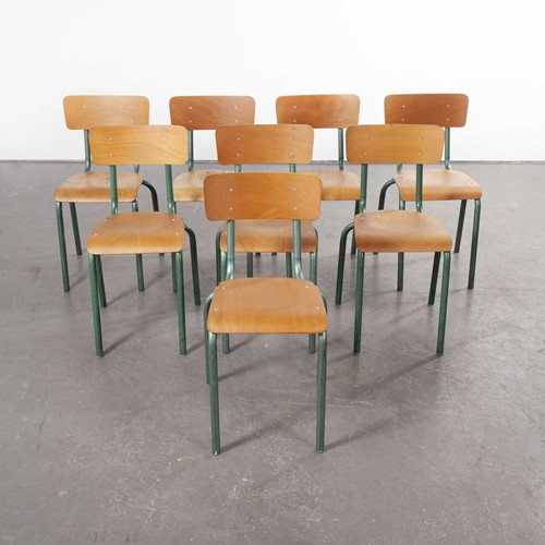 1950's French Mullca Chairs Model 511 Set Of Eight