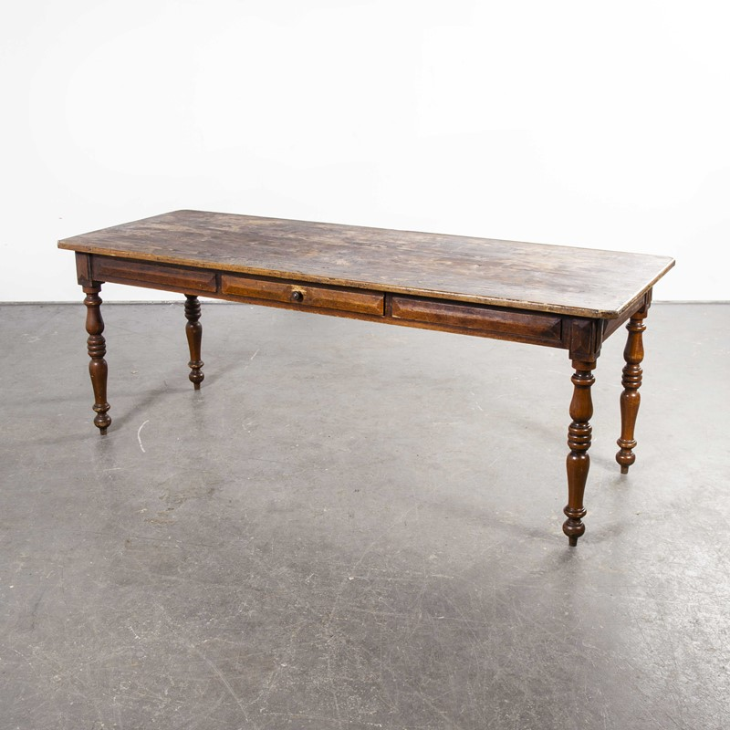 1950's French Rectangular Bobbin Leg  Table-merchant-found-997y-main-637460534486952102.jpg