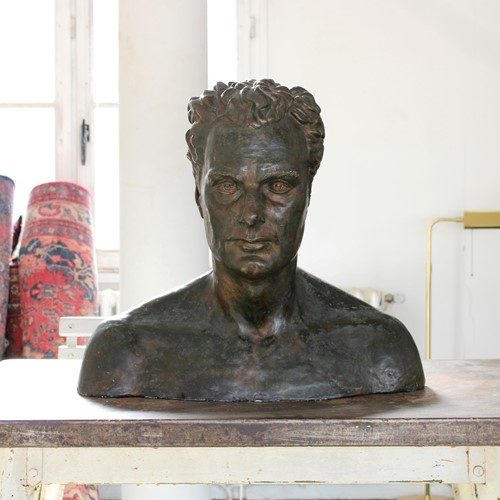Faux Bronze Bust of Charles Proctor