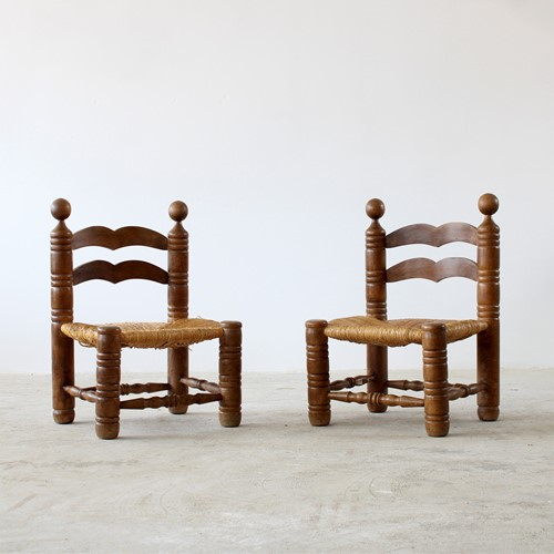 Low Chairs Attr. To Charles Dudouyt