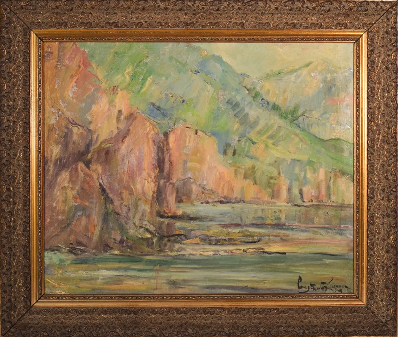 Impressionist seascape with cliffs. Oil on canvas.-modern-decorative-743-impressionist-seascape---man-w-frame-main-637463084487419726.jpg
