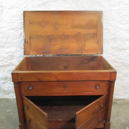 French fruitwood linen chest