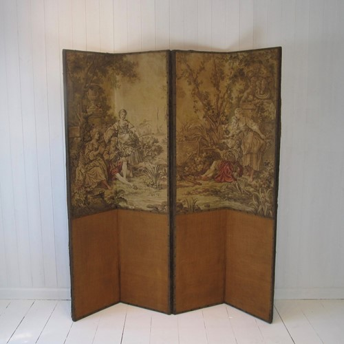Four-panel tapestry screen