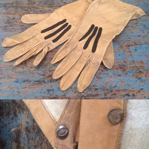 Small child's leather gloves