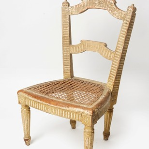 Rare French 19th Century child's chair