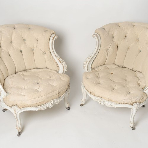 Antique French pair of chairs