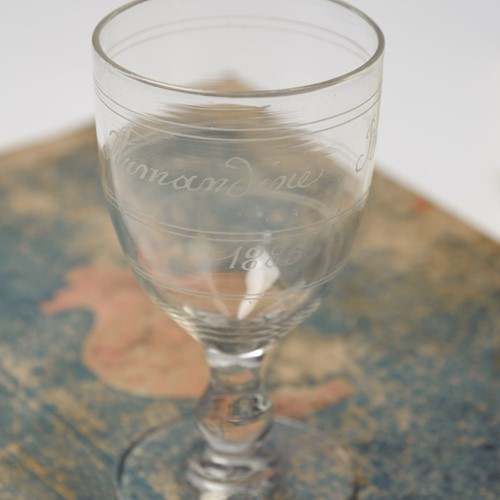 19th Century dated glass