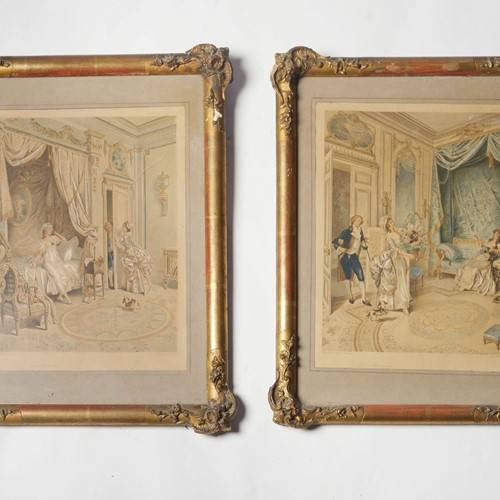 A pretty pair of antique prints