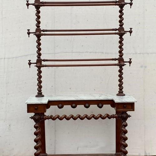 Mahogany hall stand with marble top