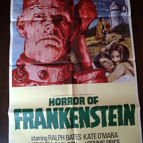 The Horror of Frankenstein original Movie Poster