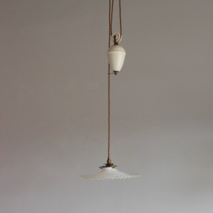 Ceramic 1920s rise and fall antique light