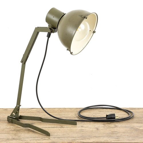 Vintage army table lamp