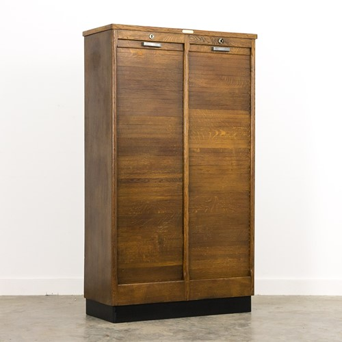 Oak vintage archive cabinet Buro Modern tourcoing