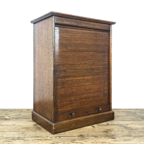 Small antique roller shutter cabinet