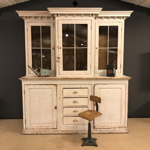Big antique 260cm high buffet cabinet