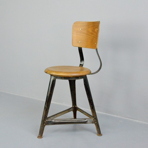 Industrial Work Stool By Ama Circa 1930s