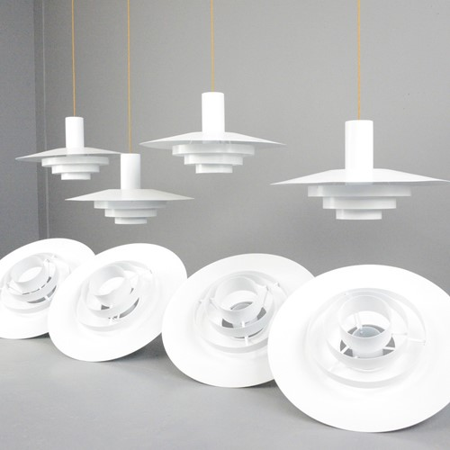 Large Mid Century Pendant Lights By Fog & Morup