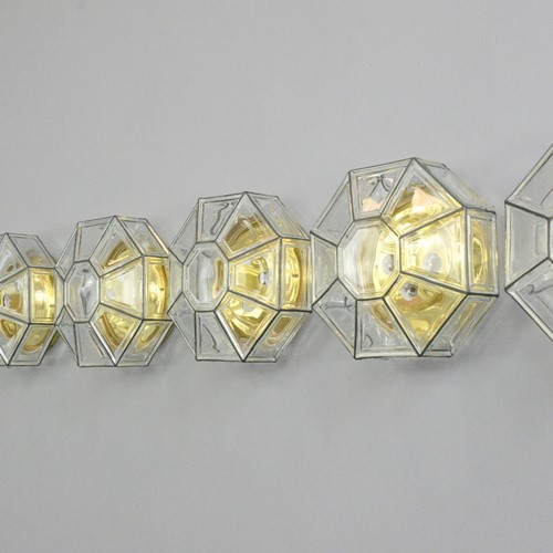 Hollywood Regency Wall Lights By Limburg 1970s