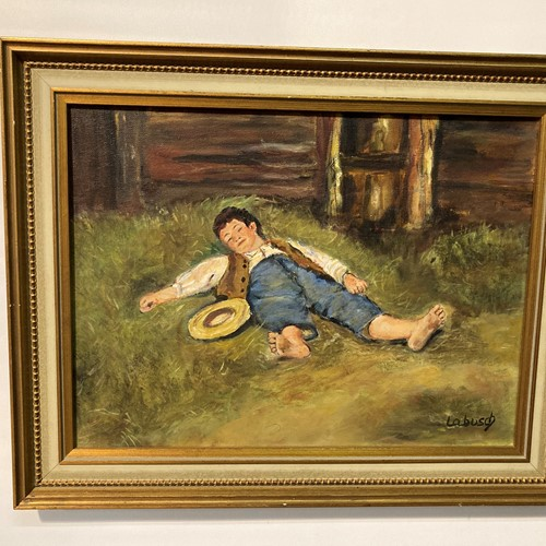 Labusch oil on canvas 'a lazy summers day'''