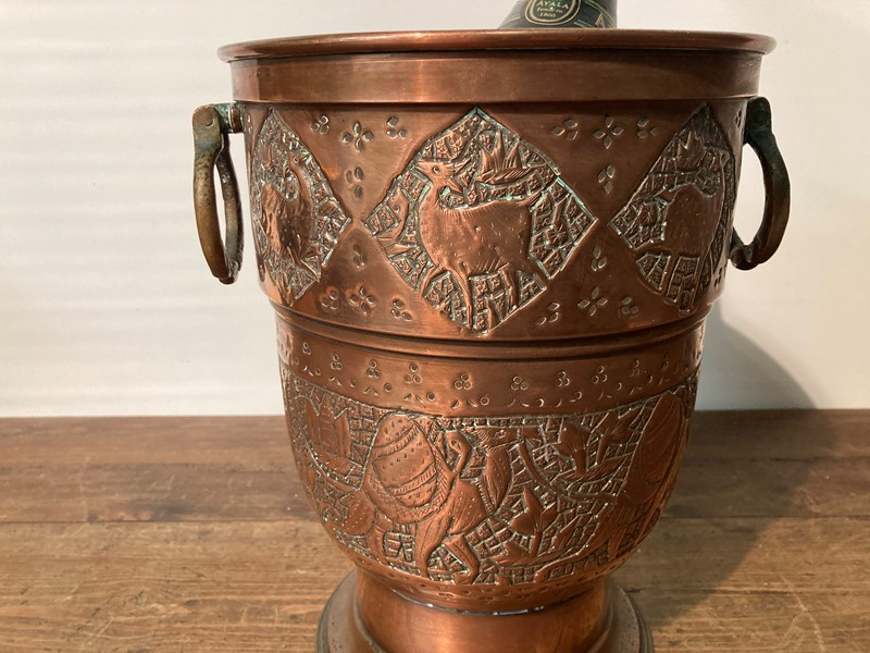 Arts and crafts copper champagne cooler -pretty-blue-floral-05a266fc-8a9f-4aa1-bf30-d2cdb8488bda-main-637469093961599766.jpeg