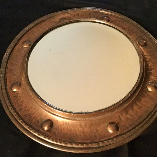 Arts &crafts copper mirror