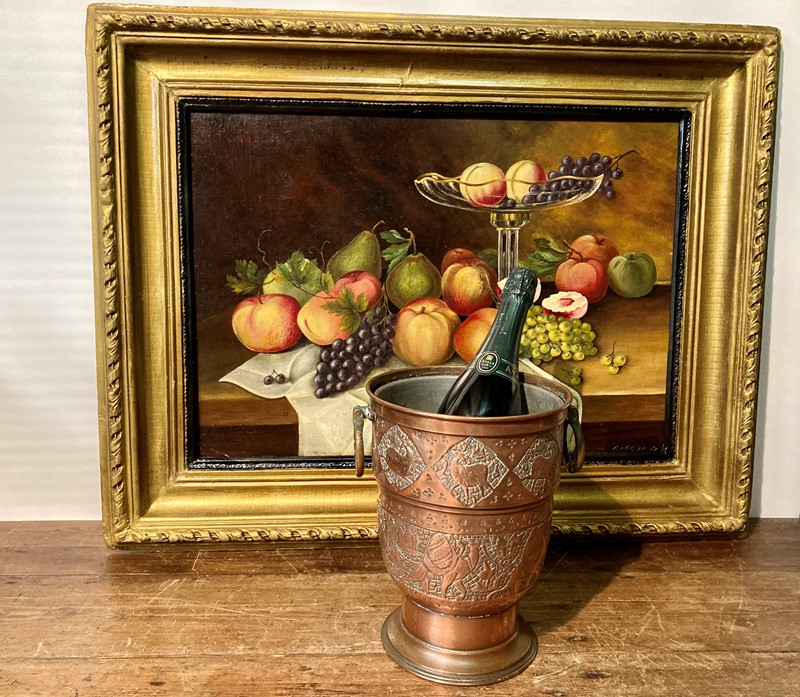 Arts and crafts copper champagne cooler -pretty-blue-floral-52bf8483-3e2c-4d48-80d3-4435a1d16ce6-main-637469093788319395.jpeg