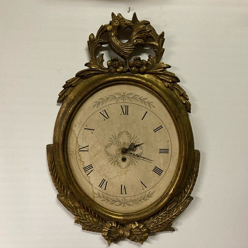 Palladio Italian gilt wood wall clock