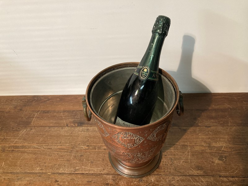 Arts and crafts copper champagne cooler -pretty-blue-floral-8cc9e90f-91ab-40ba-8949-a256c0672b09-main-637469093873162849.jpeg