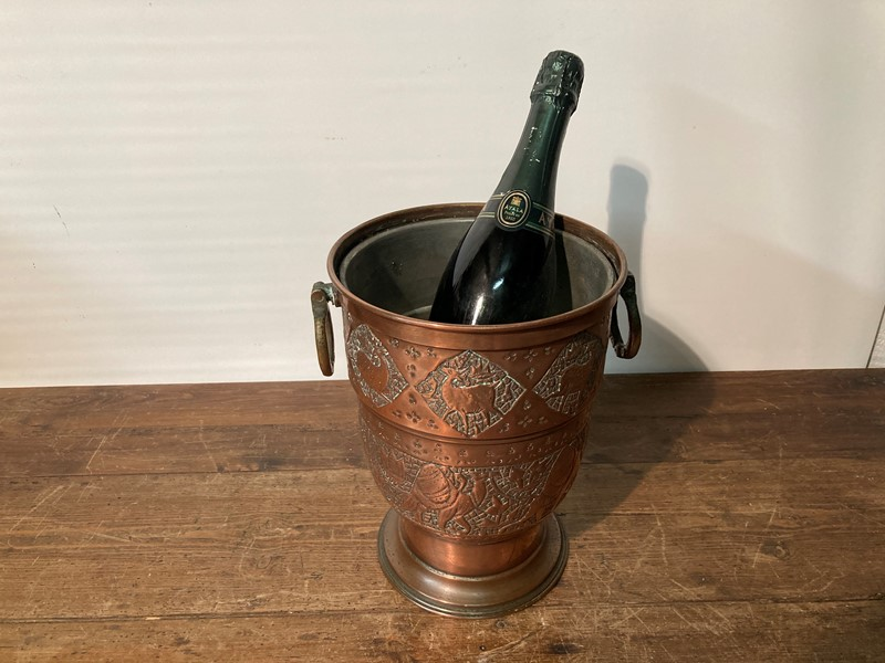 Arts and crafts copper champagne cooler -pretty-blue-floral-9cc1a648-8bf4-4d30-b990-05efd60ebbfe-main-637469093918162670.jpeg