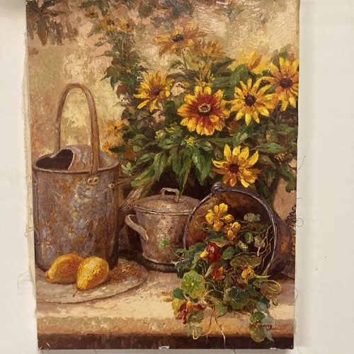 Cute little picture on canvas, sunflowers