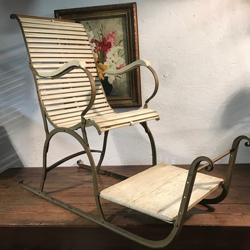 Antique Sled chair.