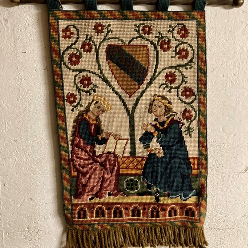 Ecclesiastical Needlepoint tapestry wall hanging