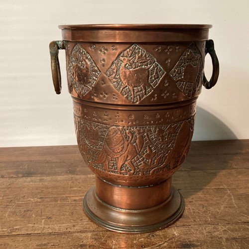 Arts and crafts copper champagne cooler